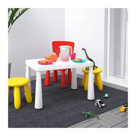 Комплект стіл і стільчик MAMMUT, стул, IKEA, стол, маммут икеа