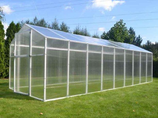 Szklarnia ogrodowa z poliwęglanu PVC stalowa mocna 12,8m2 - 211x606 cm