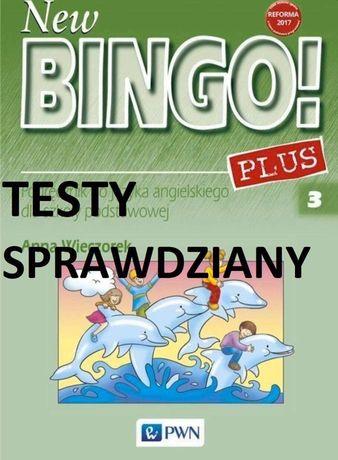 Książka New Bingo Plus klasa 3 testy sprawdziany