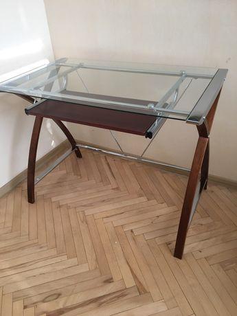 Стеклянный стол письменный/офисный компьютерный