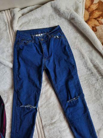 spodnie z wysokim stanem 38