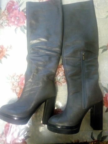 Новые женские  сапоги кожаные -евро зима .италия.