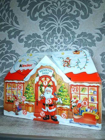 Адвент календарь 3д домик Kinder