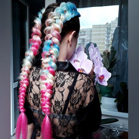 Плетение кос с канекалоном (возможен выезд)