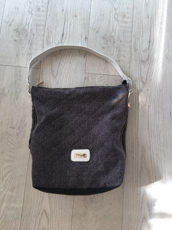torba torebka damska do wózka materiałowa na ramie shopperka a4