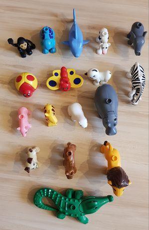 Zwierzęta klocki zoo jak duplo zestaw 17 szt
