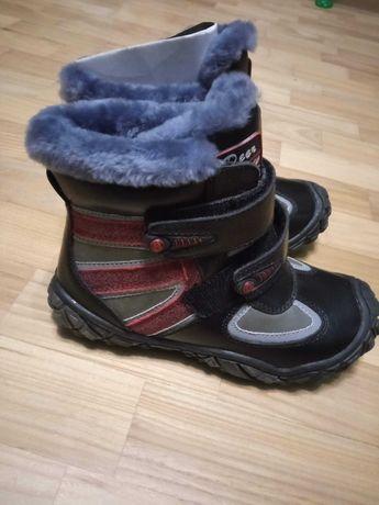Зимние ботинки B&G сапоги для мальчика кожа