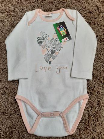 Nowe body niemowlęce 74 cm