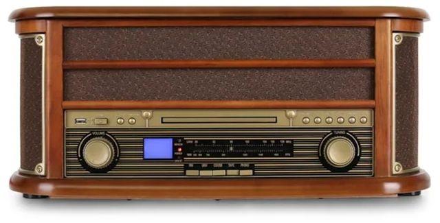 Wieża stereo retro auna gramofon kasety CD usb mp3 jack bt
