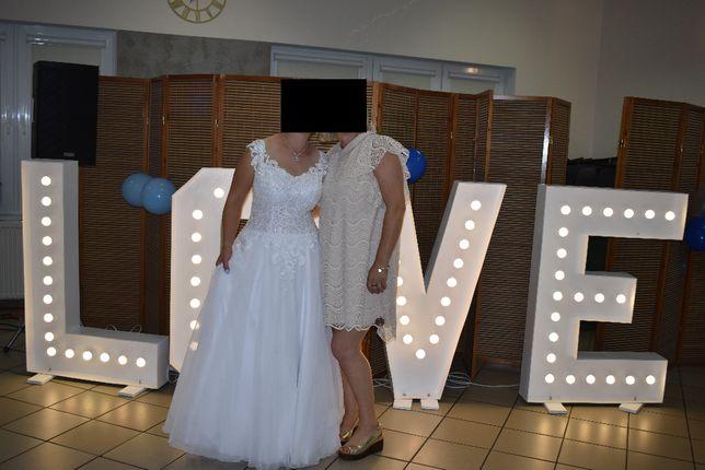 Piękna Biała Suknia Ślubna M-XL