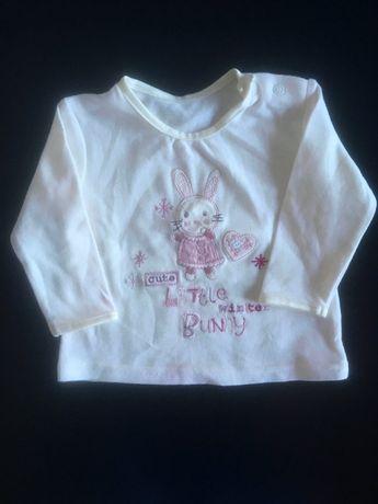 Bluzka niemowlęca dla dziewczynki, z długim rękawem, rozm. 62-68 cm