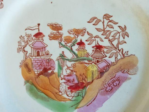 Porcelana Antiga e Rara Prato 11 GILMAN & C.ta REAL FÁBRICA SACAVÉM