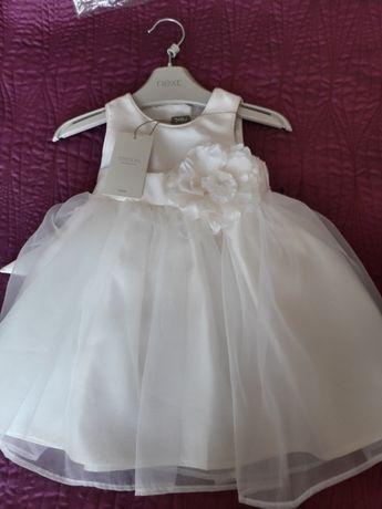 piękna sukieneczka z różą NEXT 68-74 cm