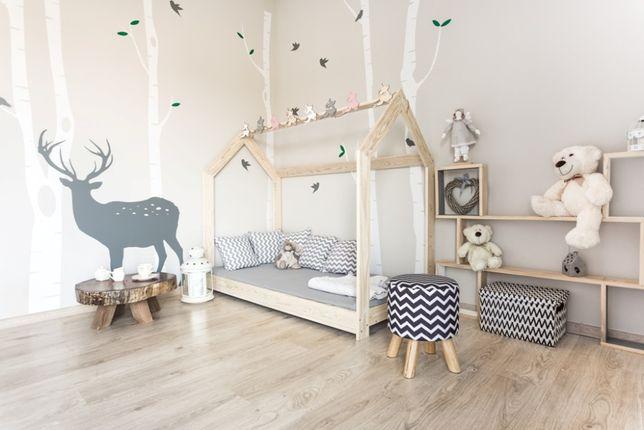 Nowe łóżko domek skandynawski, dziecięce, drewniane Gaya Naturalne