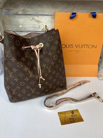 Torebka damska Louis Vuitton monogram Premium worek w pudełku