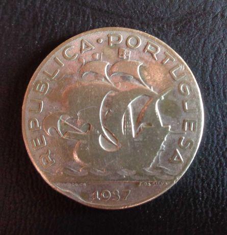 Moeda 5 Escudos Prata 1937
