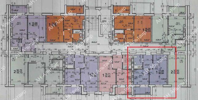 """ЖК """"МИРА-3"""" ПРОДАМ 1 комн квартиру 37м2 НОВОСТРОЙ м.Индустриальная  G"""