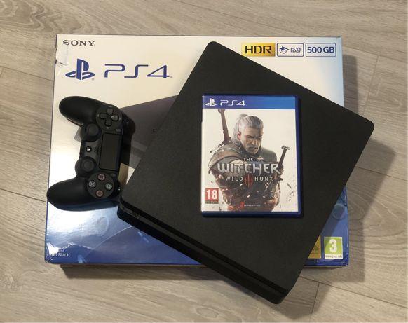 Jak Nowa /Konsola Sony Playstation 4 Slim 500Gb/Gra Wiedźmin Dziki Gon