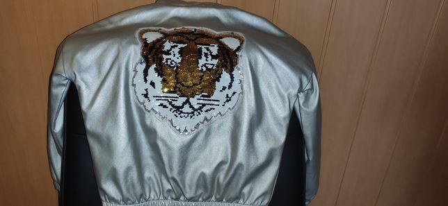 Куртка кожзам 134-140