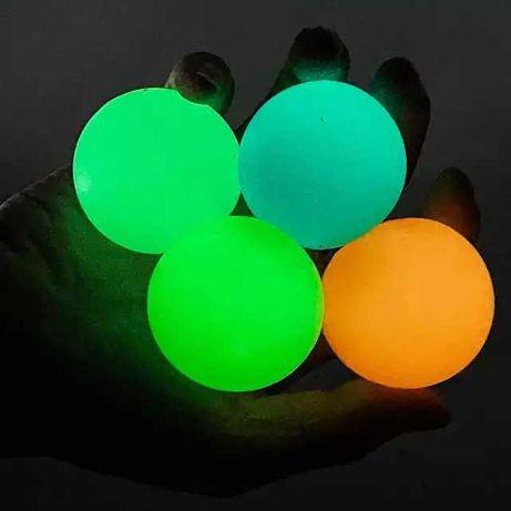 развивающий липкий шарик светящийся люминесцентный лизун антистресс