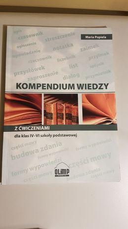 Kompendium wiedzy z ćwiczeniami dla klas IV-VI szkoły podstawowej
