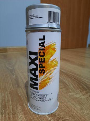 Sprzedam lakier w aerozolu żaroodporny Maxi Special kolor srebrny 5 p