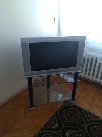 Telewizor plus stolik szklany