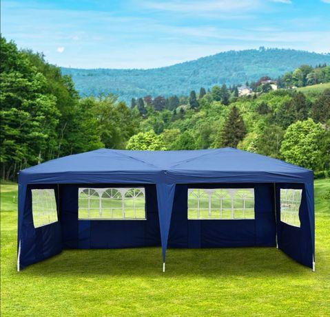 Pawilon ogrodowy 3x6 altana 6x3 namiot do ogrodu niebieski