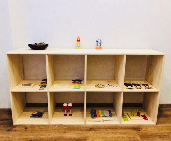 Детский Стеллаж Montessori / Полка / Этажерка / Дитячий Стелаж /Стелаж