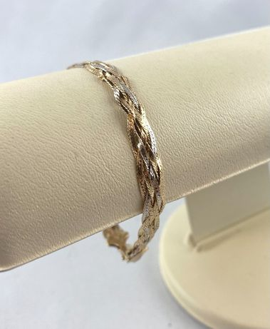 Piękna ZŁOTA bransoletka PR. 585 (14K) długość 18,5 cm