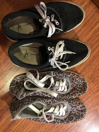 Sapatilhas pretas e com padrão T36