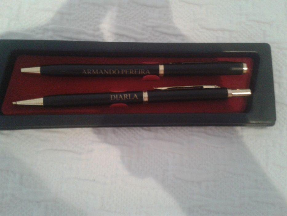 Conjunto caneta e lapiseira antiga Vila Chã de Ourique - imagem 1