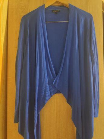 Жіночий в'язаний синій кардиган
