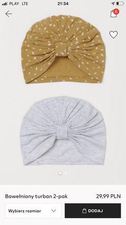 2 turbany h&m stan bdb 6-12 mies