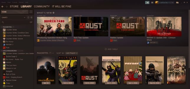 Акаунт Steam СS, Rust, Payday 2