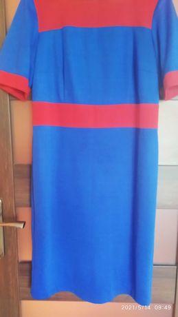 Sukienka dzianinowa, prosta klasyczna 44