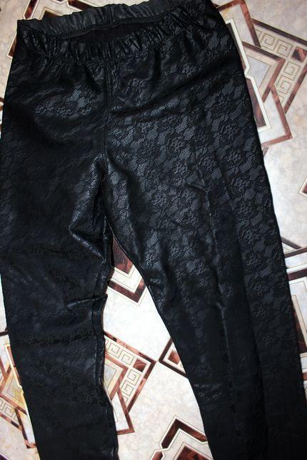 Штаны брюки гладкие под кожу XS_S лосины леггинсы