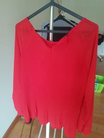 Camisa seda vermelho