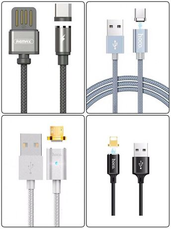 Магнитный кабель шнур Remax hoco Micro USB Lightning Type C iphone bas