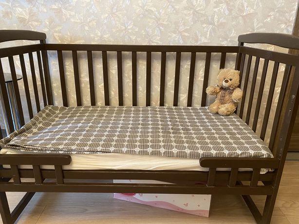 Детская кровать+ящик+матрас