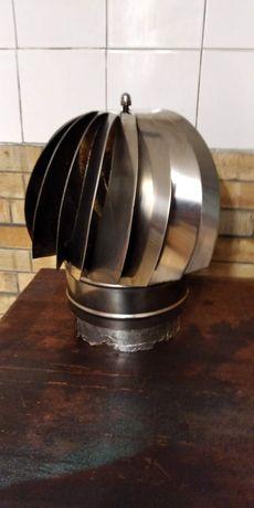 Girândola para chaminé em INOX -150mm diâmetro de encaixe