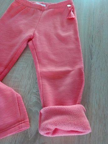 Spodnie 116 dla dziewczynki ocieplane