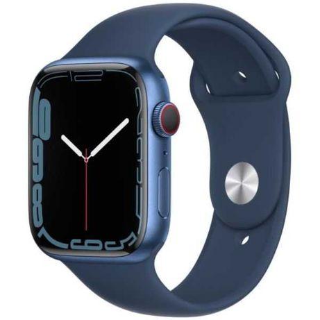 Apple Watch  7 GPS 45mm Alumínio Blue  Bracelete Desportiva Blue NOVO