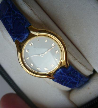 złoty zegarek damski EBEL Beluga złoto 18K +3 paski, nowy 6500$ omega