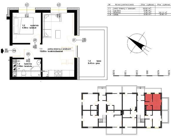 Darłowo ul. Kropla Bałtyku - Mieszkanie 2 pokoje +balkon