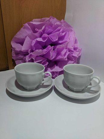 Набор чайный, чашки кофейные, блюдца десертные