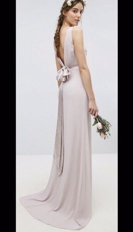 Długa suknia TFNC London ASOS na wesele