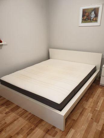 Łóżko IKEA MALM. Hovag materac. Stelaż Sultan Laxeby