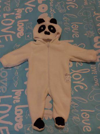 Новый теплый комбинезон панда
