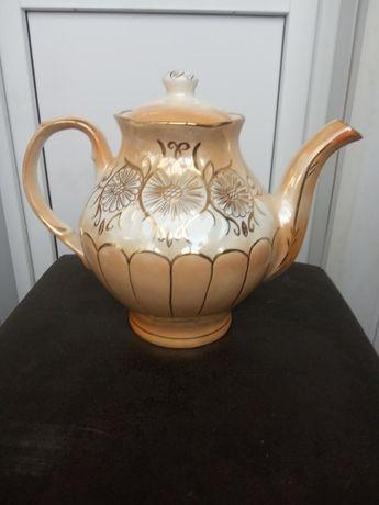 Большой фарфор чайник 3,5л.Барановка